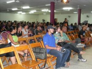 Eks studiantenan durante seshon informativo di DUO | Potrèt:  Jose Manuel Dias