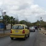 Situashon di trafiko riba Caracasbaaiweg - potrèt: José Manuel Dias