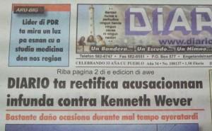 Frontpage di Diario awe. Foto: Ariën Rasmijn