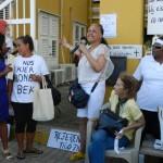 Ekspreshon di manifestantenan foto Belkis Osepa