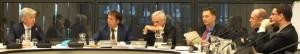 Minister Plasterk den debate ku Bosman, Segers i Van Laar – potrèt: Jamila Baaziz