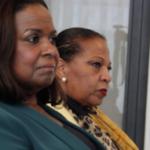 Representante di gobièrnu Marvelyne Wiels di Kòrsou i Josianne Fleming-Artsen di Sint Maarten – potrèt: John Samson