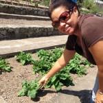 Manager di Organoponics Garden Leanne Ortiz – potrèt: Hazel Durand