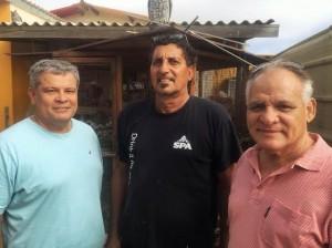 Jaime Falconi, Val Peterson y Randolf Croes di PARA. Foto: Ariën Rasmijn