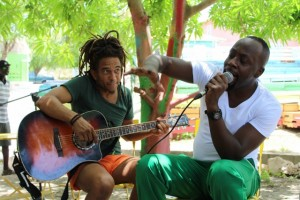 Junior Tecla i Wyclef Jean -