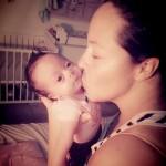 Baby Lunah i su mama Liandha Garcia